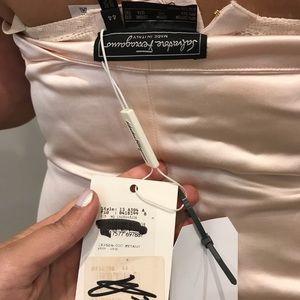 Lite pink Salvador Ferragamo cocktail dress.